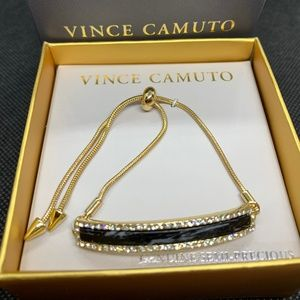 Vince Camuto Gold Jasper & Crystal Slider Bracelet